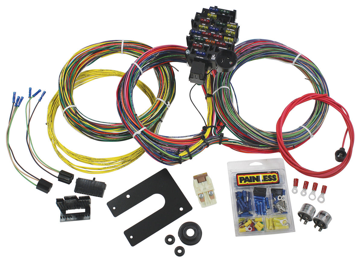 wiring diagram of car air conditioning 2003 dodge ram infinity sound system painless performance 1959-68 grand prix harness 28-circuit classic plus non-gm keyed dash ...