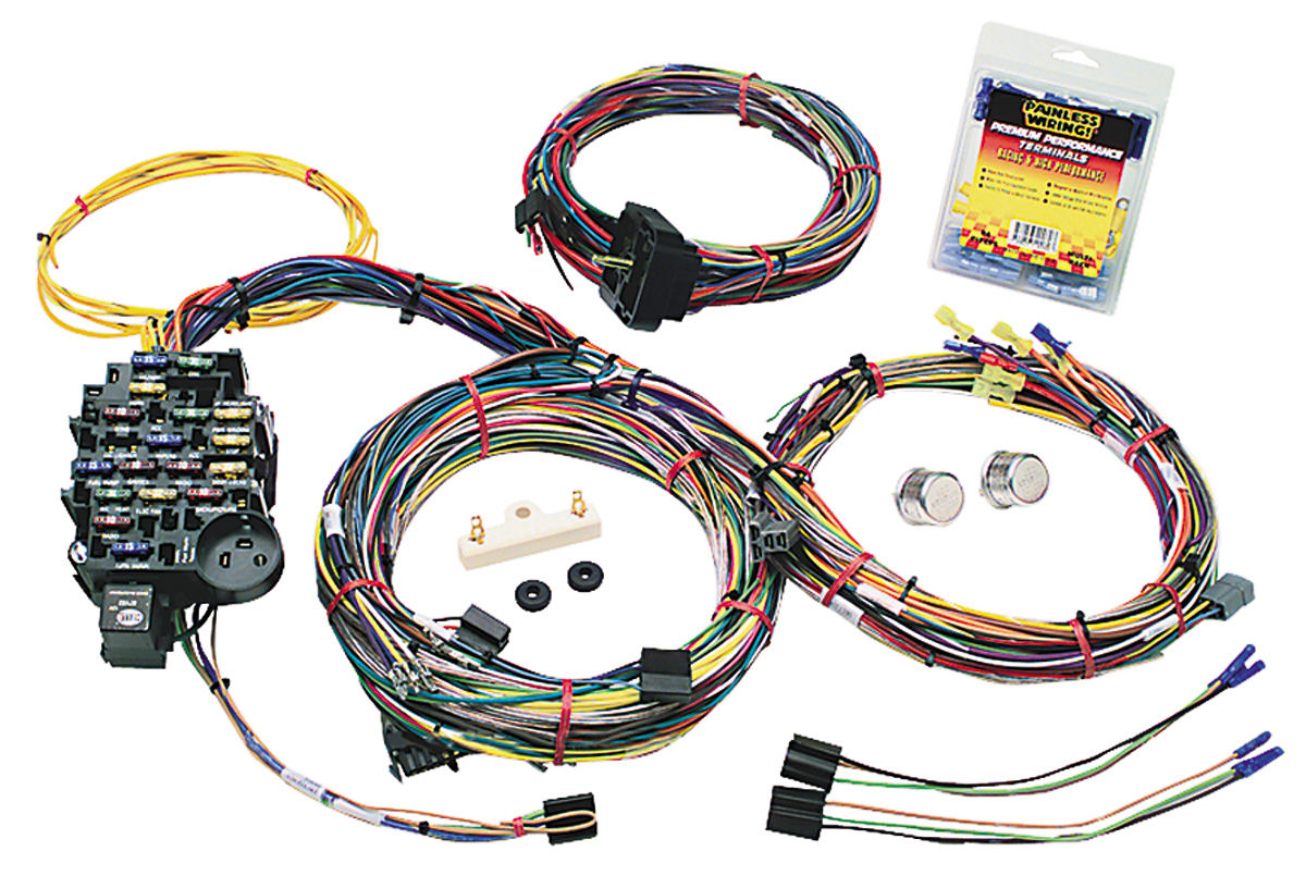hight resolution of grand prix wiring harness muscle car gm 25 circuit classic plus tap to enlarge