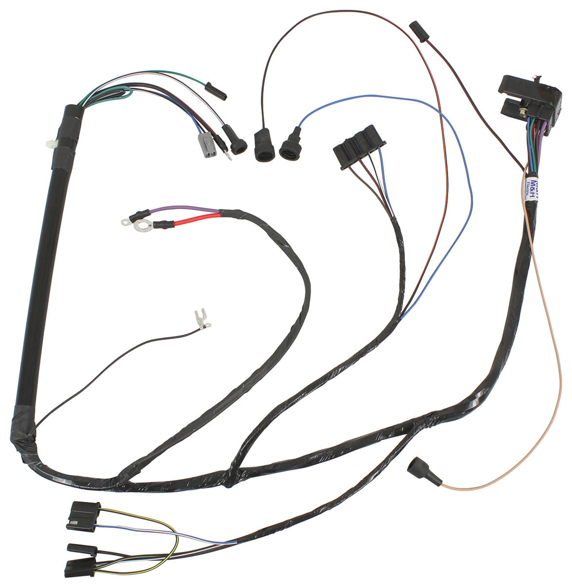 Wiring Harness, Engine, 1969 GTO/Lem./Temp./Grand Prix, V8