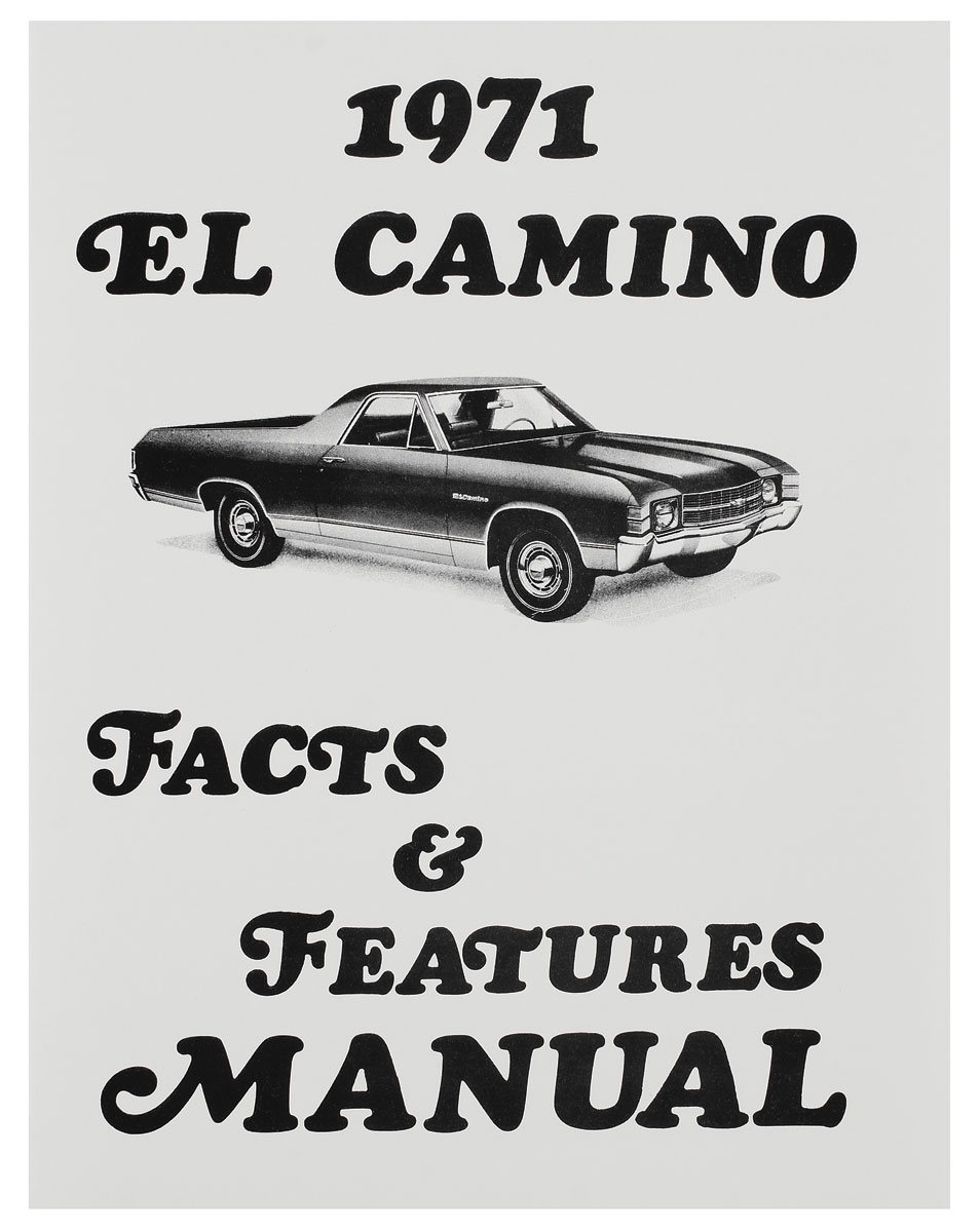 Owners Manuals for 1971 El Camino @ OPGI.com