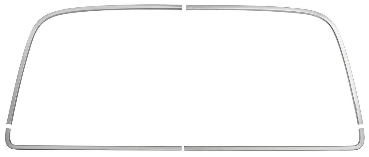 Window Reveal Molding Set, Rear, 1968-72 Chevelle & Monte