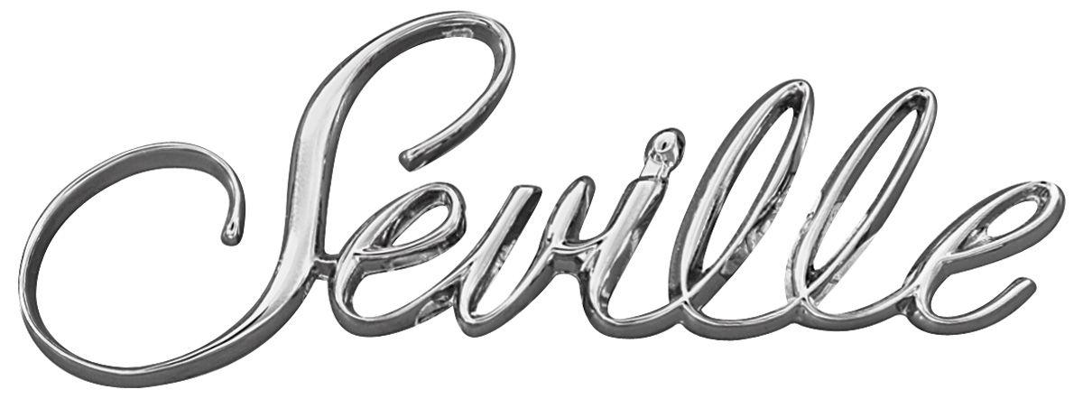 Emblem, Fender, 1976-81 Cadillac, Seville Script @ OPGI.com