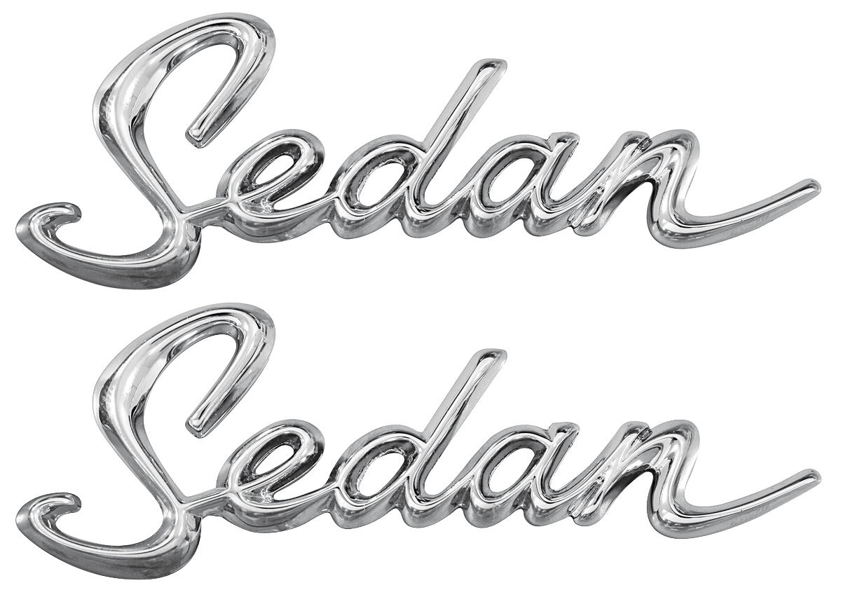 Emblem Quarter Panel Script 64 Cadillac Sedan Pair