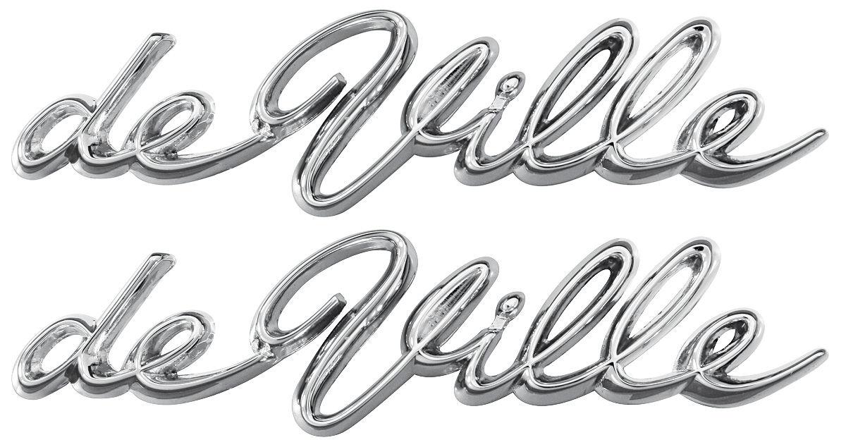 Emblem, Quarter Panel Script, 1963-64 Cadillac
