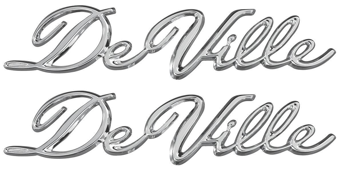 Emblem, Quarter Panel, 1965-70 Cadillac, Convertible