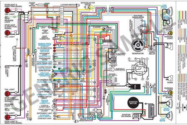 wiring diagram 1965 chevelle/el camino 11x17 color