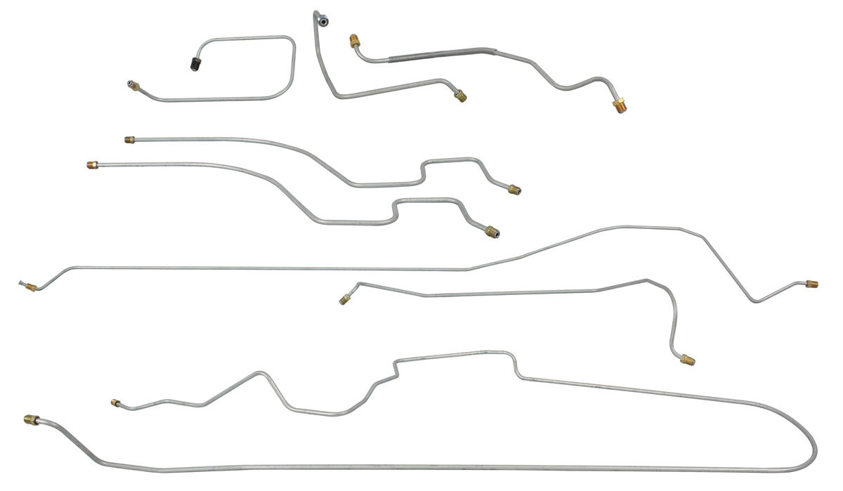 Brake Line Set, Complete, 1940 Cadillac Series 75, Manual