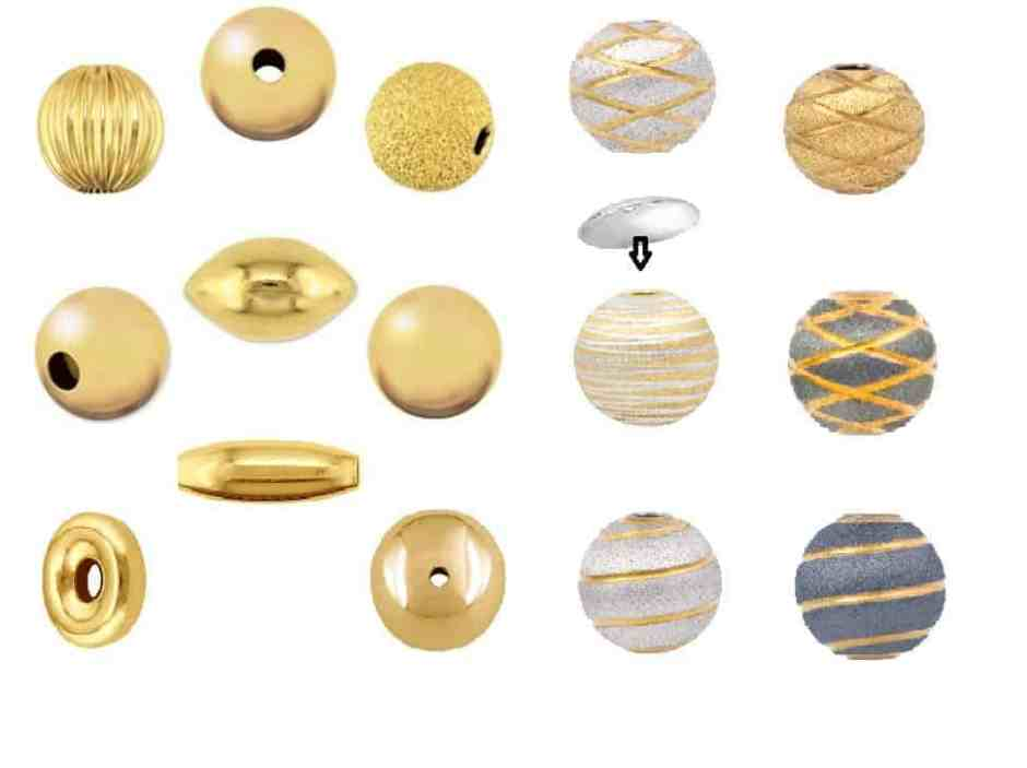 SIlver and Gold Jewellery Beads