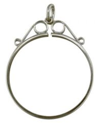 Sterling SIlver-coin-mount