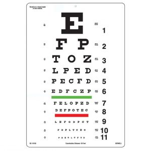 Low Vision Test Card
