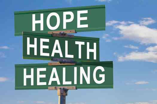 Hope, Health Healing Sign with Rapid Detox from Opioids