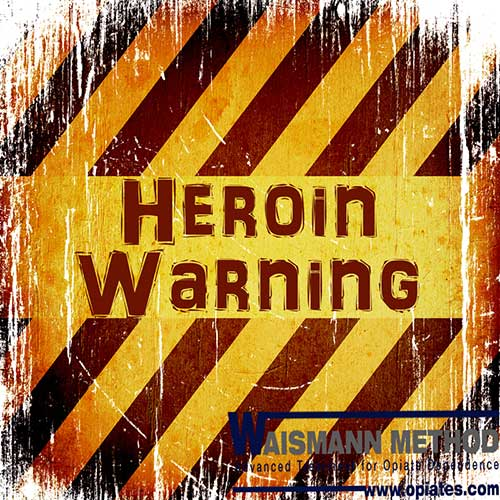 heroin warning sign with waismann method logo