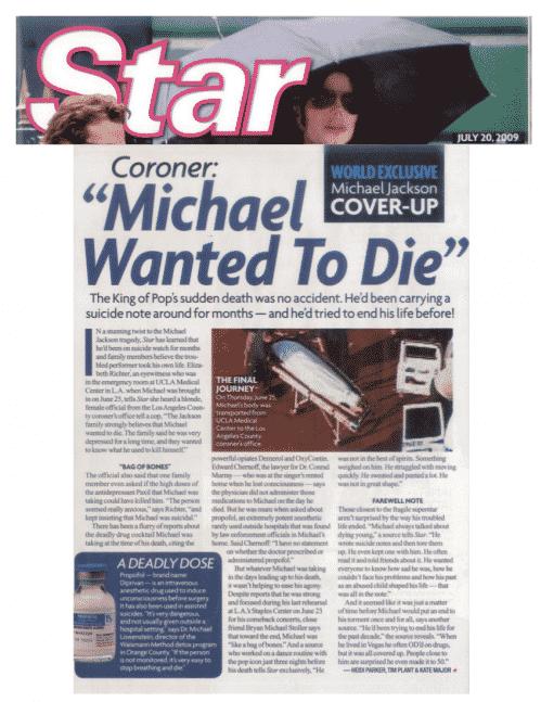 Star Magzine Michael Jackson