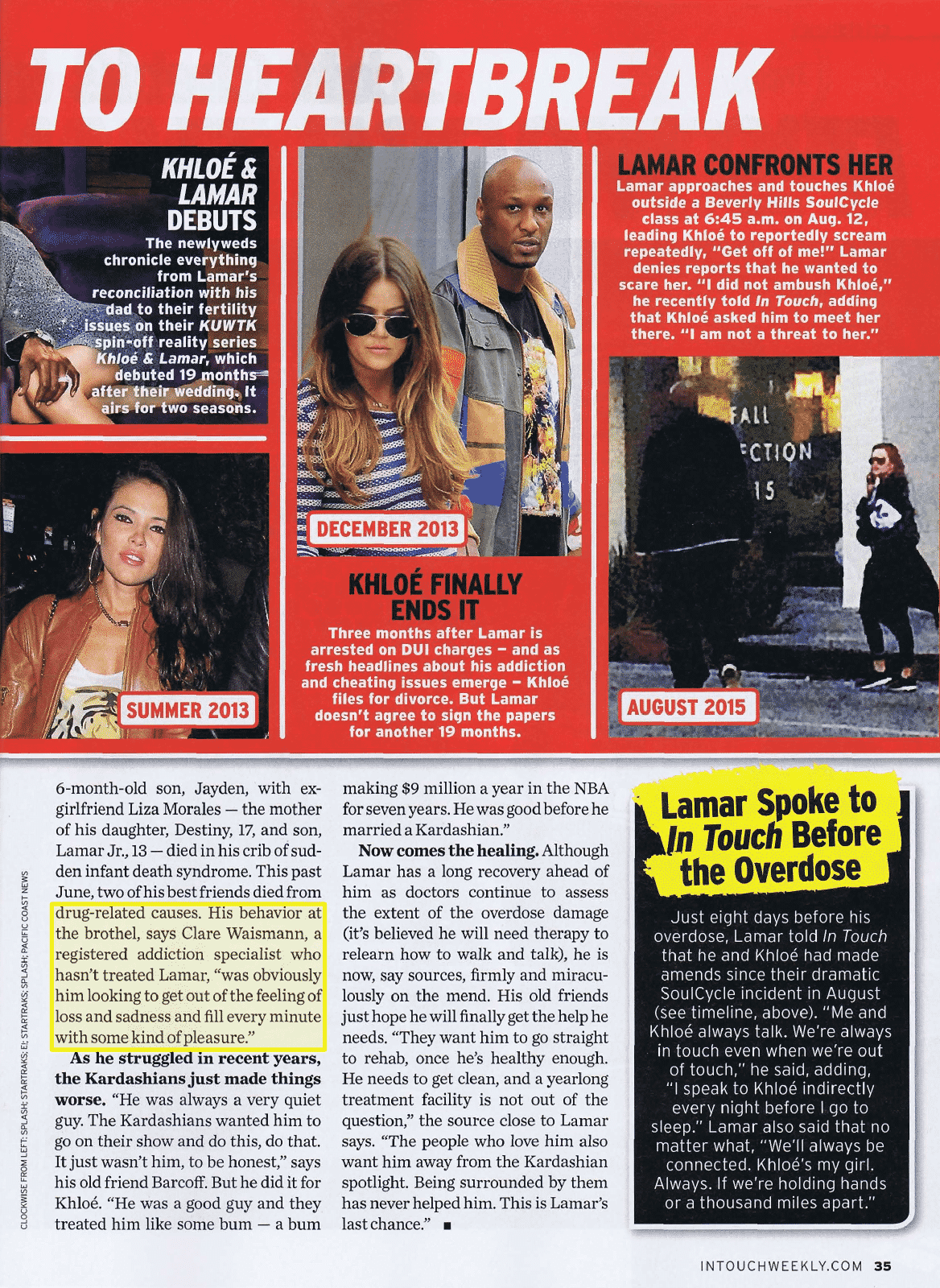 Clare Waismann in In Touch Magazine on the Lamar Odom Overdose
