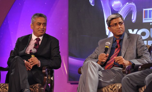 Rajdeep Sardesai and Ashutosh