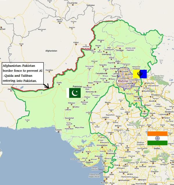 Map Of India And Pakistan Border.7 Totally Random And Funny Maps Of India Some Pakistanis Love To