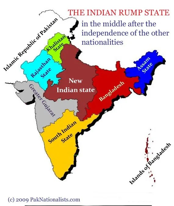 crazy Indian map by Pakistan