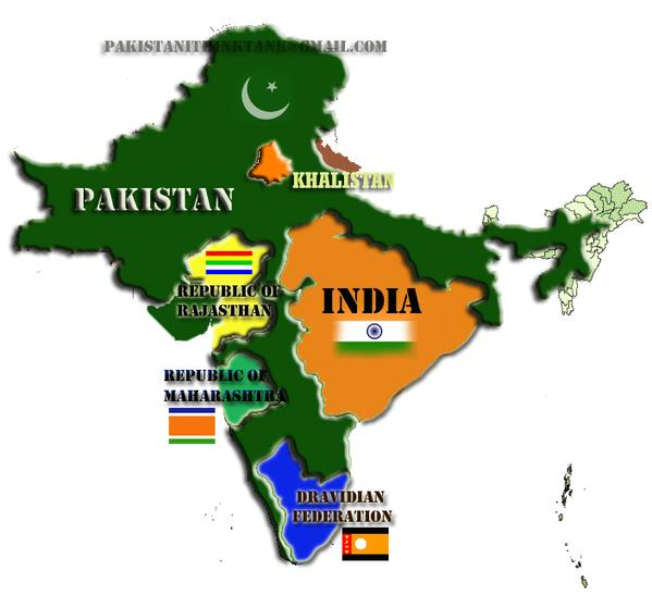 Totally Random And Funny Maps Of India Some Pakistanis Love To - Map pakistan