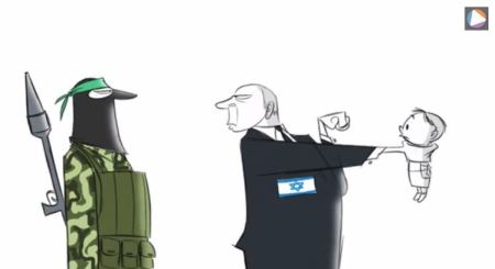 Washington Post published this video cartoon of Israeli Prime Minister Benjamin Netanyahu repeatedly punching a Palestinian