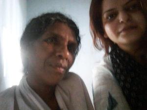 Advaita Kala with Sujith's mother