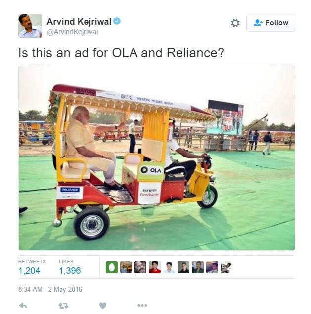 Kejriwal's tweet