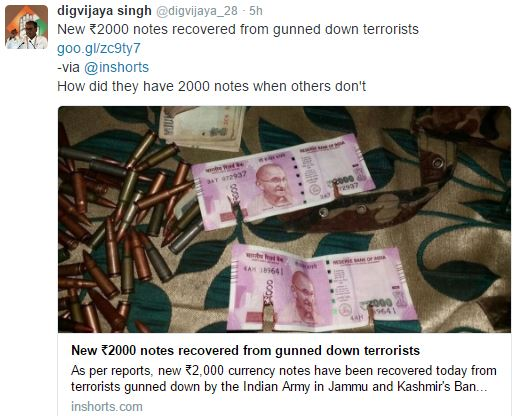 Digvijay Singh spreading panic through misleading information
