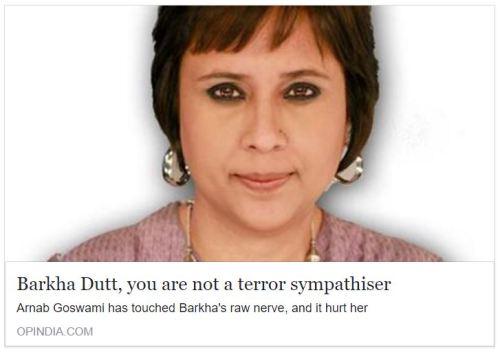 Barkha Dutt, you are not a terror sympathiser