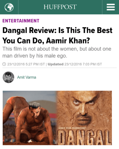 Dangal review by Huffington Post