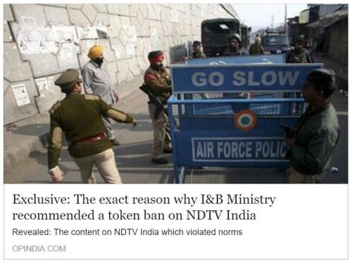 Exclusive: The exact reason why I&B Ministry recommended a token ban on NDTV India