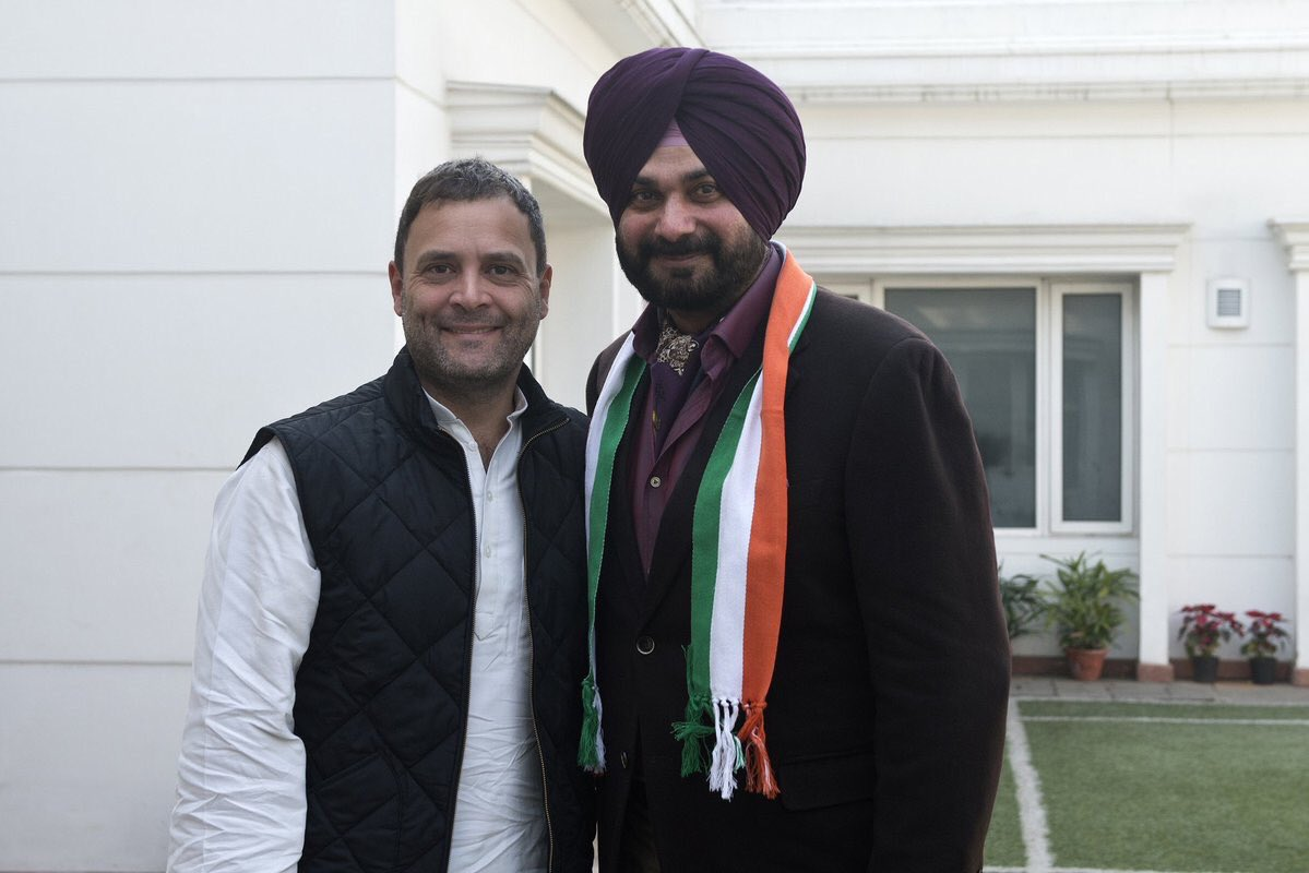 Navjot Singh Sidhu joins Congress and becomes instant target of jokes on Twitter