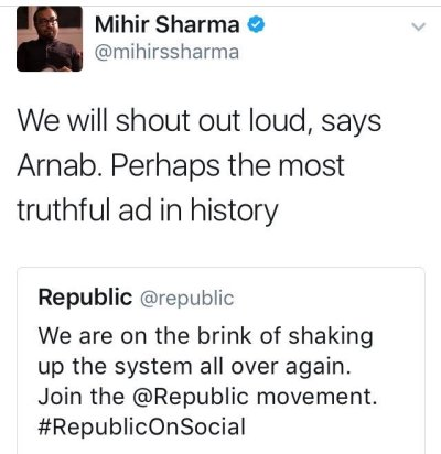 Mihir S Sharma's silly tweet on Arab