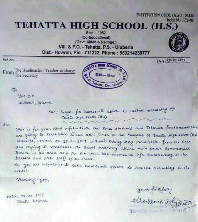 Bengal school sees Hindu-Muslim tussle