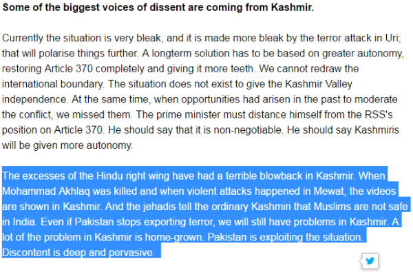 Ram Guha's views that are in line with what Pakistan wants to hear