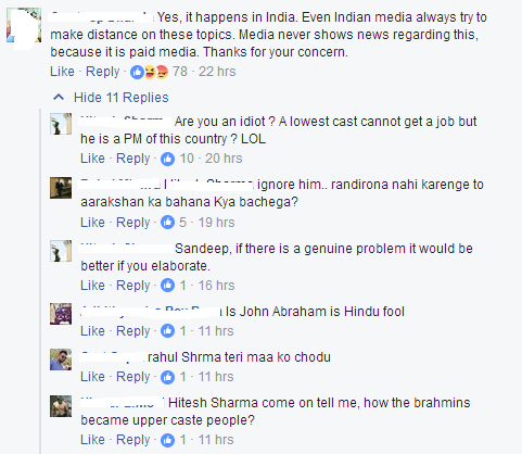 Caste hatred