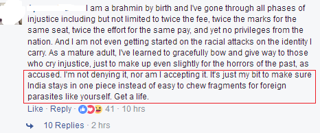 how to respond to hate speech against Brahmins