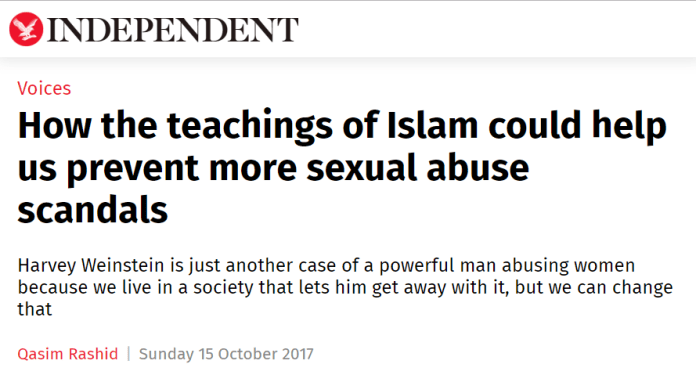 Islamic propaganda on The Independent
