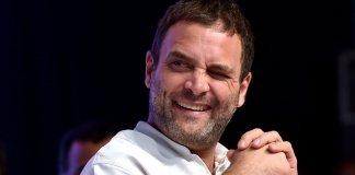 Rahul Gandhi winking