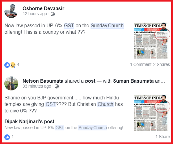 Fact Check: Has Yogi govt really imposed a GST on Sunday Church offerings as claimed on Social Media