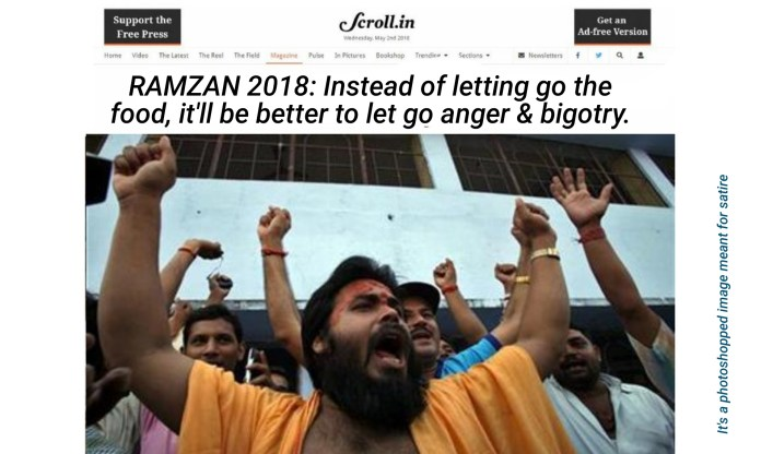 Scroll's article on Ramzan (satire)