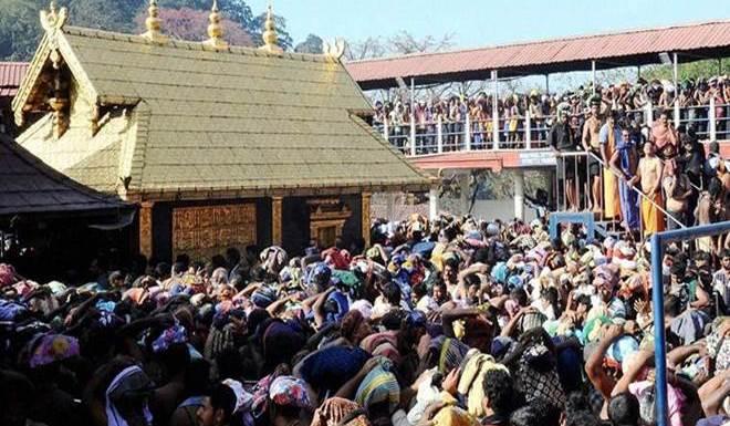 Devotees at Sabarimala Temple