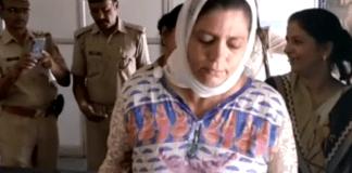 Dr Sameena Begum after the acid attack