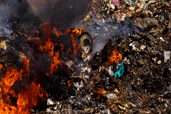 garbage burning in delhi