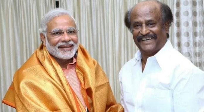Narendra Modi with Rajinikanth