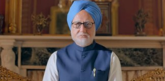 Anupam Kher as Manmohan Singh in The Accidental Prime Minister