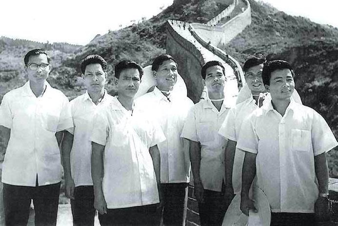 Naga leaders at the Great Wall of China