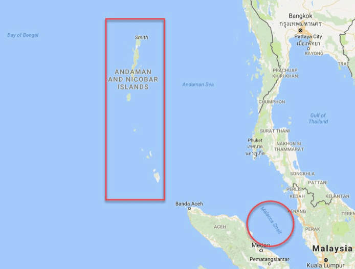 Andaman and The Straight of Malacca