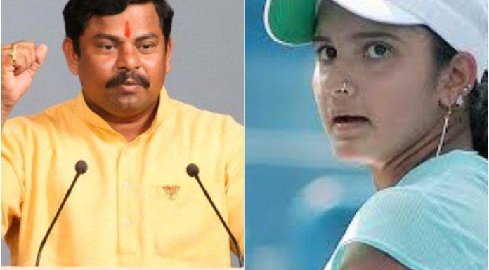 Sania te 'Pakistani Bahu' should not be the brand ambassador for the state, says Telangana's lone BJP MLA