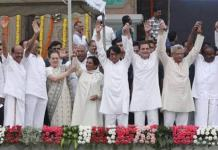 Leaders of mahagathbandhan continue to desert their parties, some joining BJP