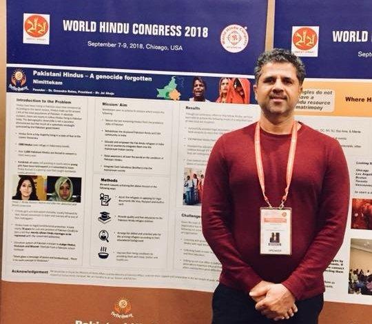 Omendra Ratnu at World Hindu Congress in USA, 2018