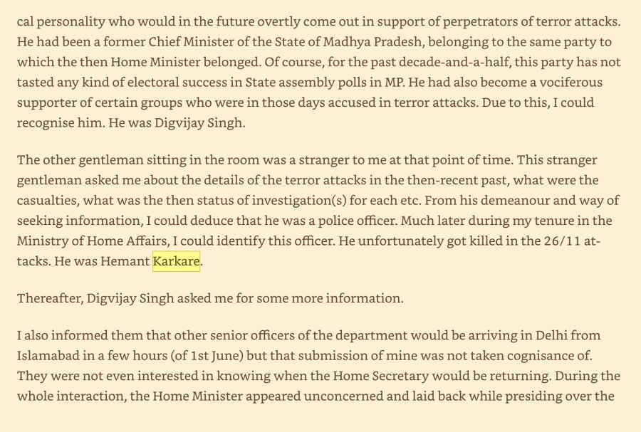 Here Is What Rvs Mani Bureaucrat Of Congress Era Has To Say About Hemant Karkare And His Involvement In Saffron Terror Narrative